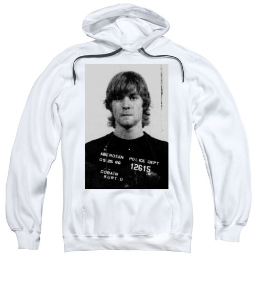 Kurt Cobain Mug Shot Vertical Black And Gray Grey Sweatshirt