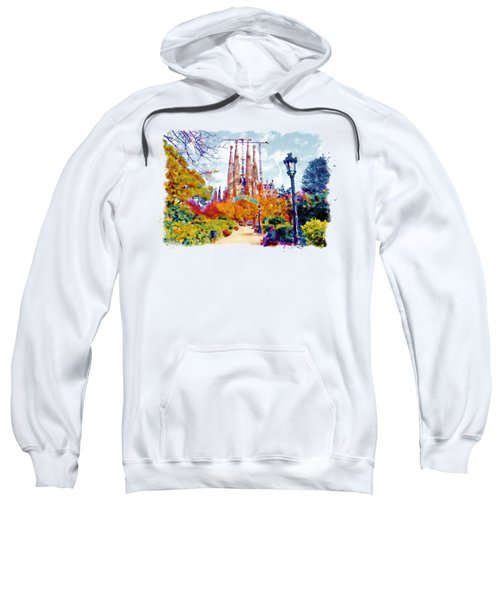 La Sagrada Familia - Park View Sweatshirt by Marian Voicu