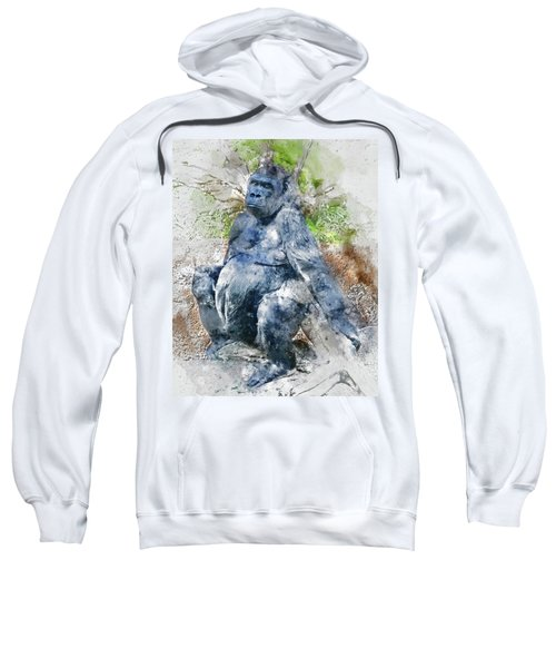 Lady Gorilla Sitting Deep In Thought Sweatshirt