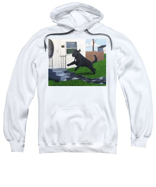 Lady Leaps The Small Front Stairs Sweatshirt