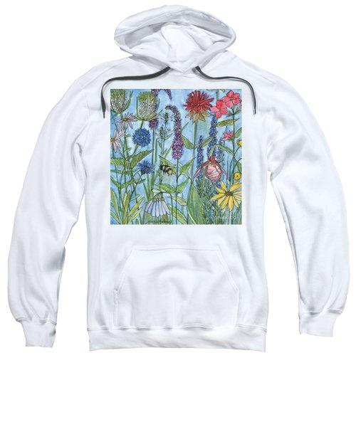 Lady Slipper In My Garden  Sweatshirt