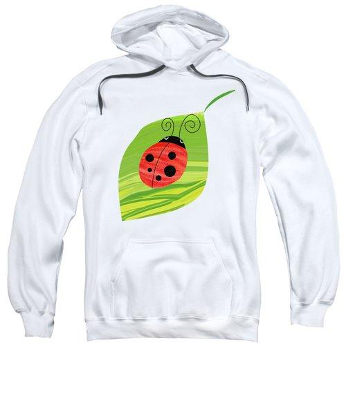 Ladybug On Leaf Sweatshirt