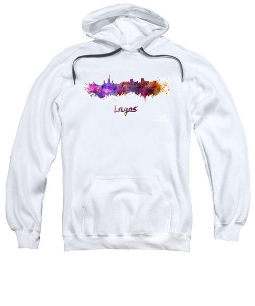 Lagos Skyline In Watercolor Sweatshirt