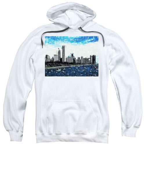 Lake Michigan And The Chicago Skyline Sweatshirt