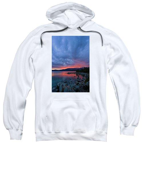 Lake Tahoe Sunset Portrait 2 Sweatshirt