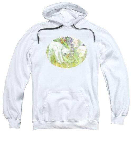 Lamb And Lilies - Verse Sweatshirt by Anita Faye