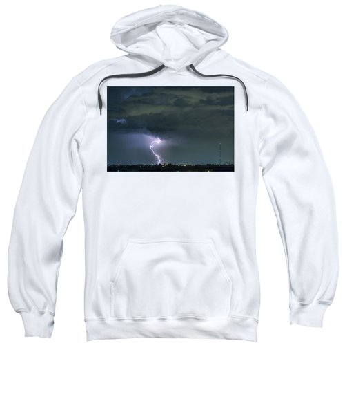 Sweatshirt featuring the photograph Landing In A Storm by James BO Insogna