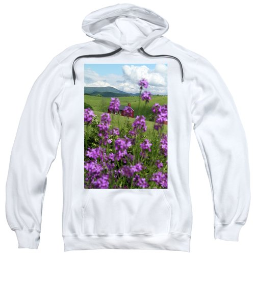 Landscape With Purple Flowers In Virginia Sweatshirt