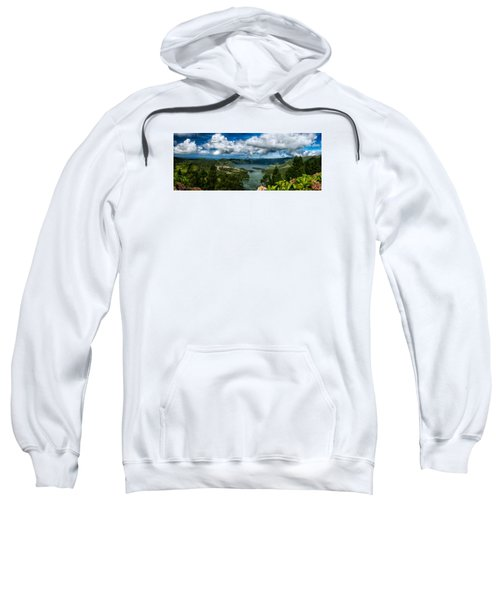 Sweatshirt featuring the photograph Landscapespanoramas015 by Joseph Amaral