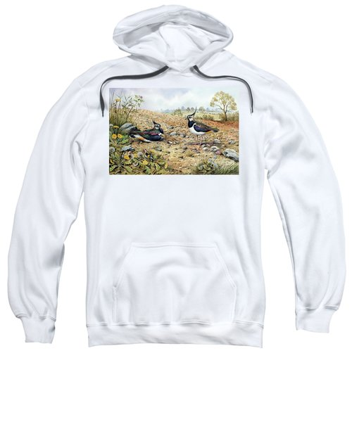 Lapwing Family With Goldfinches Sweatshirt