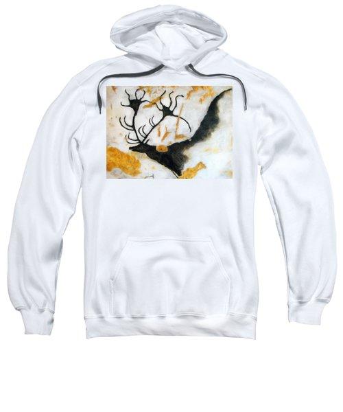 Lascaux Megaceros Deer 2 Sweatshirt