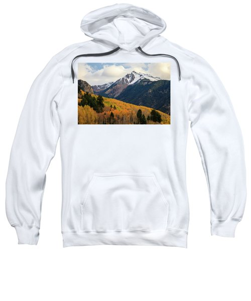 Sweatshirt featuring the photograph Last Light Of Autumn by David Chandler