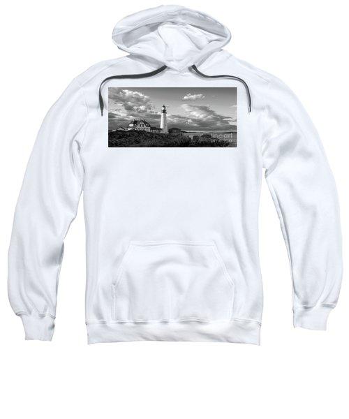 Late Afternoon Clouds, Portland Head Light  -98461 Sweatshirt