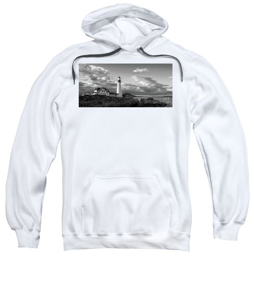 Late Afternoon Clouds, Portland Head Light  -98461 Sweatshirt