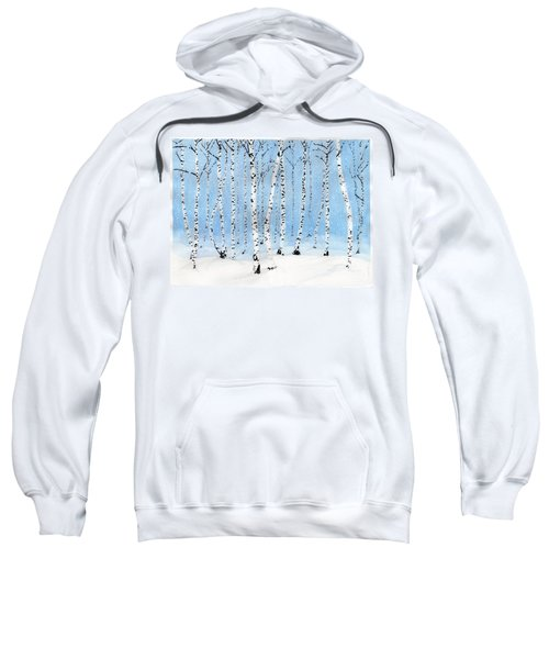 Late Afternoon Snowstorm In The Forest Sweatshirt