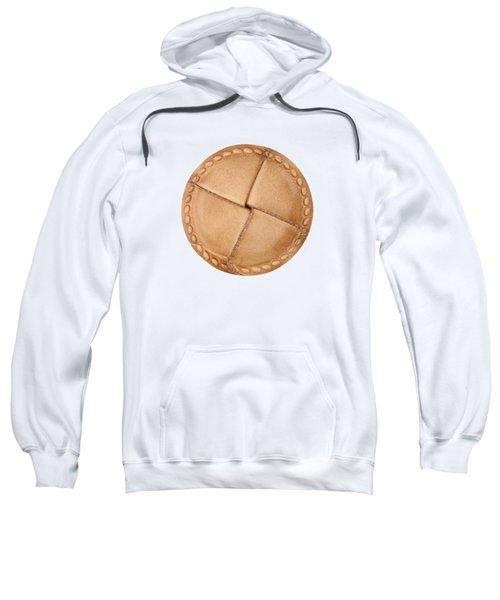 Leather Button Sweatshirt