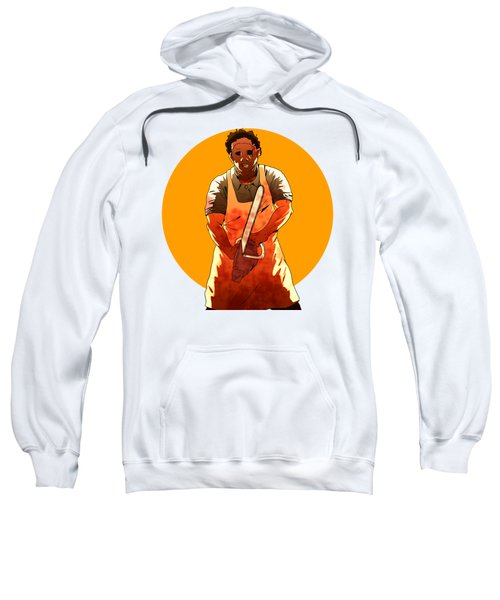 Sweatshirt featuring the drawing Leatherface by Jorgo Photography - Wall Art Gallery