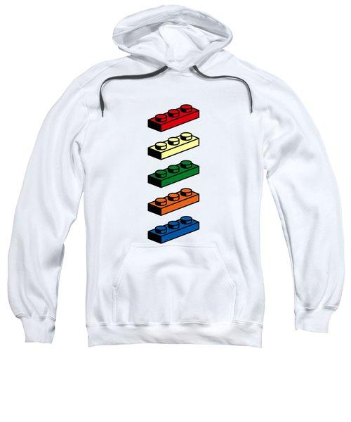 Sweatshirt featuring the photograph Lego T-shirt Pop Art by Edward Fielding