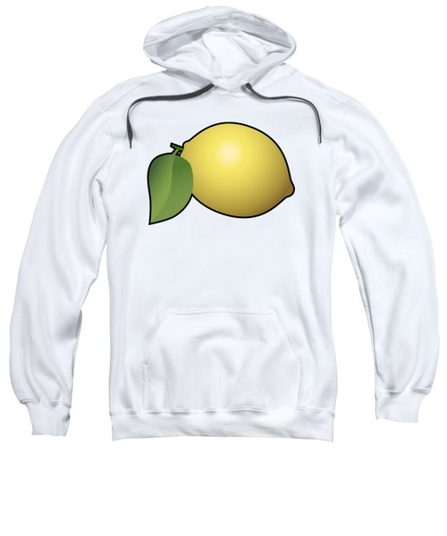 Lemon Fruit Outlined Sweatshirt by Miroslav Nemecek