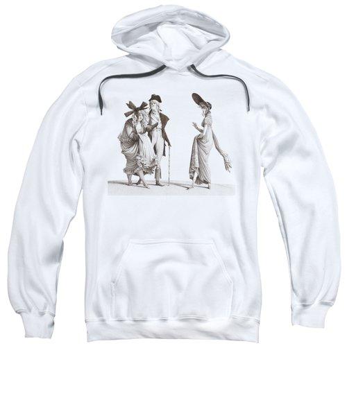 Les Merveilleuses Antique French Fashion Sweatshirt