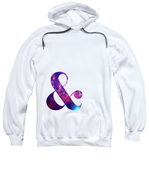 Letter Ampersand Galaxy In White Background Sweatshirt