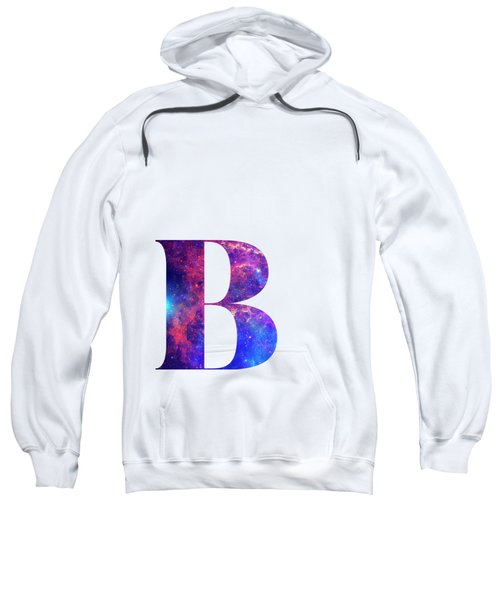 Letter B Galaxy In White Background Sweatshirt
