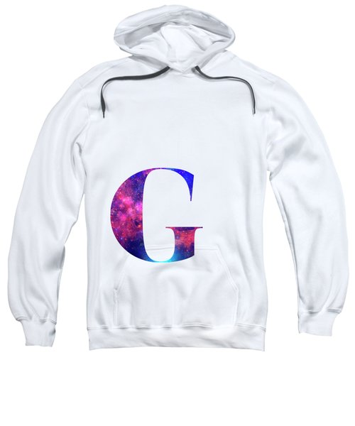 Letter G Galaxy In White Background Sweatshirt