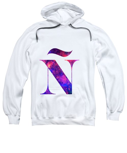 Letter Galaxy In White Background Sweatshirt