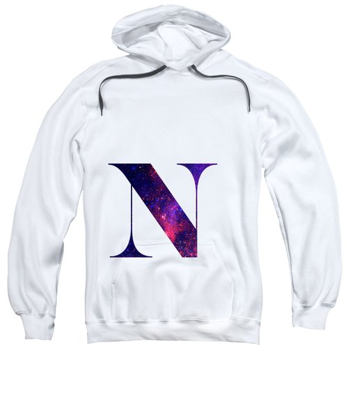 Letter N Galaxy In White Background Sweatshirt
