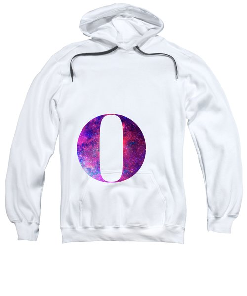 Letter O Galaxy In White Background Sweatshirt