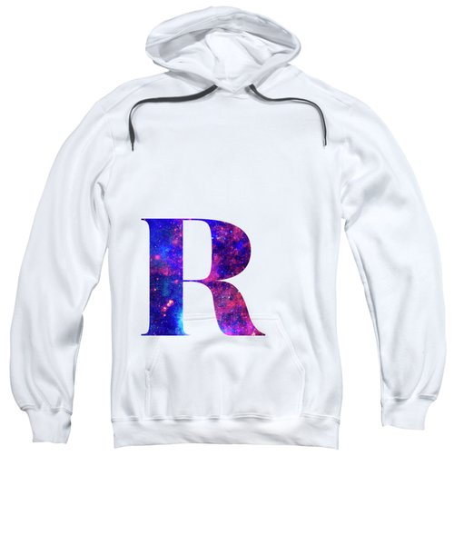 Letter R Galaxy In White Background Sweatshirt