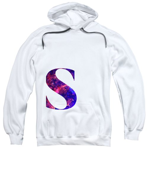 Letter S Galaxy In White Background Sweatshirt