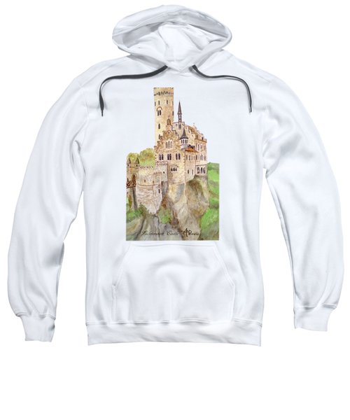 Lichtenstein Castle Sweatshirt by Angeles M Pomata