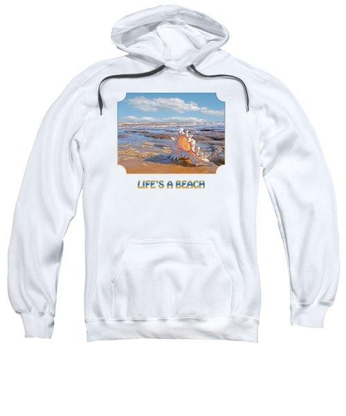 Life's A Beach - Murex Ramosus Seashell - Square Sweatshirt