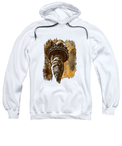 Light The Path Earthy 3 Dimensional Sweatshirt by Di Designs