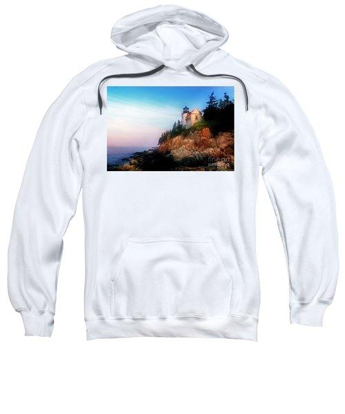 Sweatshirt featuring the photograph Lighthouse Sunrise by Scott Kemper
