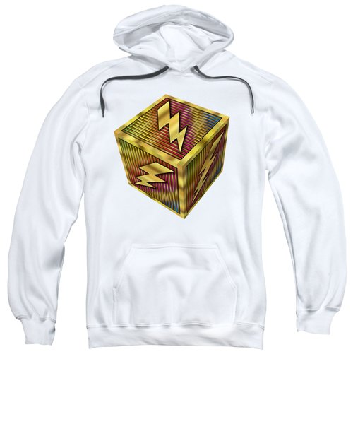 Lightning Bolt Cube - Transparent Sweatshirt