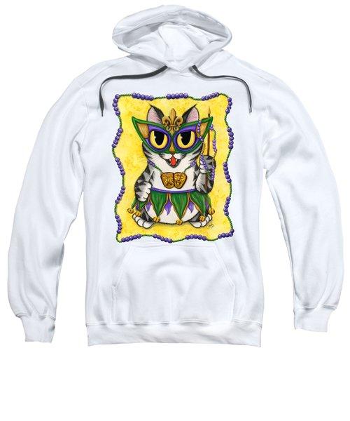 Lil Mardi Gras Cat Sweatshirt