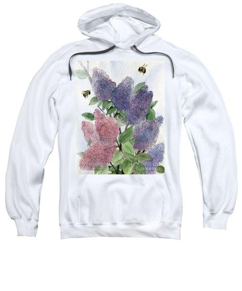 Lilacs And Bees Sweatshirt