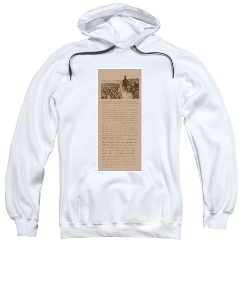 Lincoln And The Gettysburg Address Sweatshirt