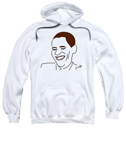 Line Art Man Sweatshirt by Priscilla Wolfe