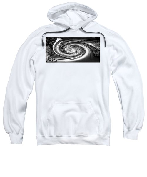 Liquefied Graffiti In Black And White Sweatshirt