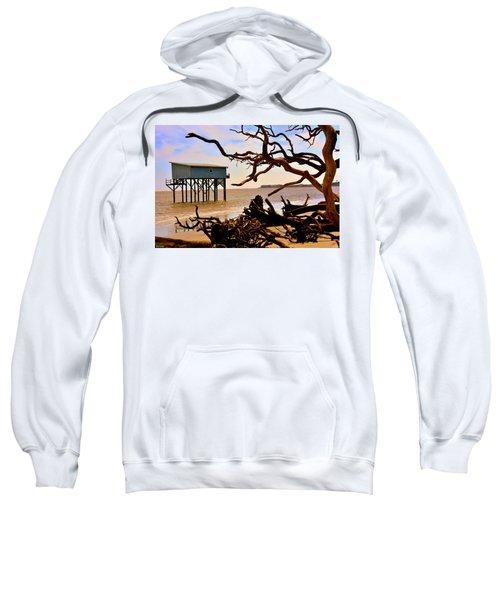 Little Blue Hunting Island State Park Beaufort Sc Sweatshirt