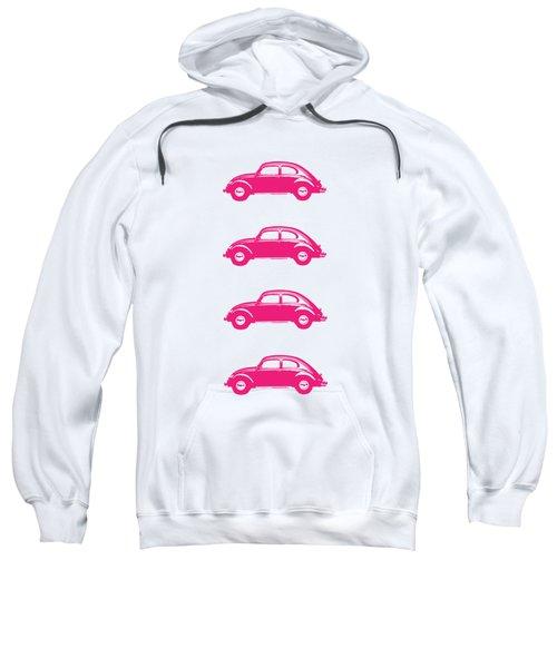 Little Pink Beetles Sweatshirt by Edward Fielding