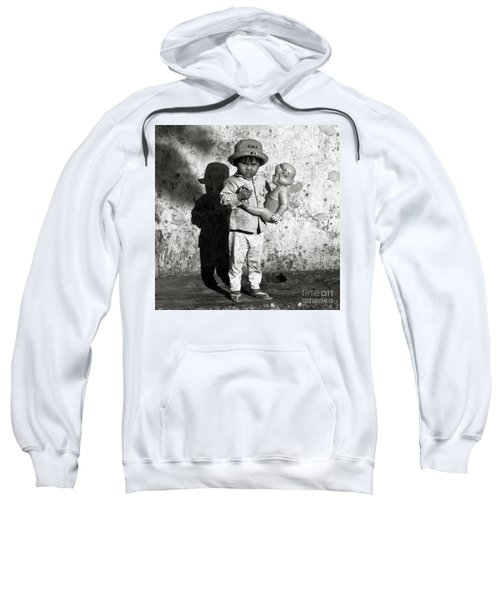 Little Vietnamese Girl Playing With Her Doll Sweatshirt