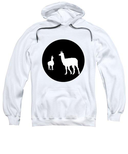 Llamas Sweatshirt by Mordax Furittus