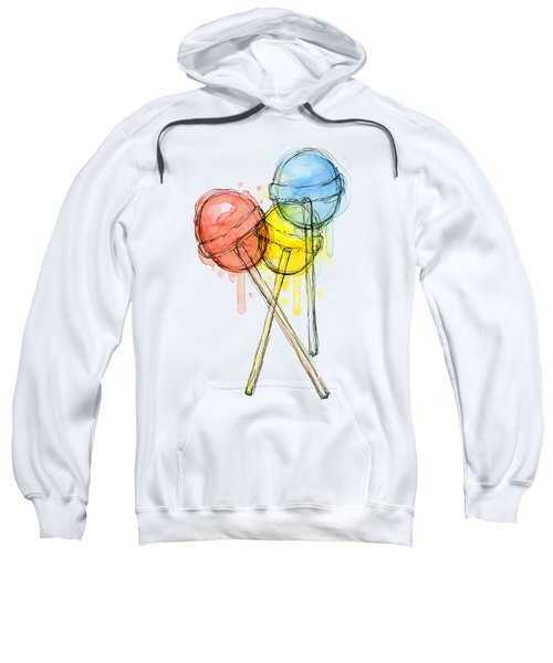 Lollipop Candy Watercolor Sweatshirt