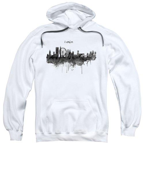 London Black And White Skyline Watercolor Sweatshirt