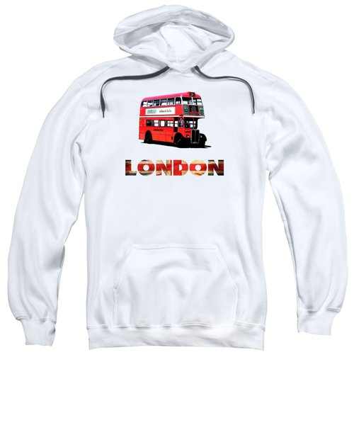London Red Double Decker Bus Tee Sweatshirt
