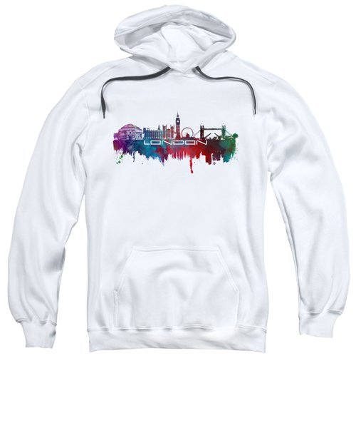 London Skyline City Blue Sweatshirt by Justyna JBJart